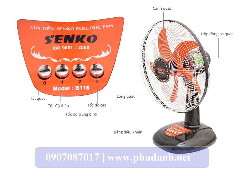 Quạt Bàn SenKo B118-XI