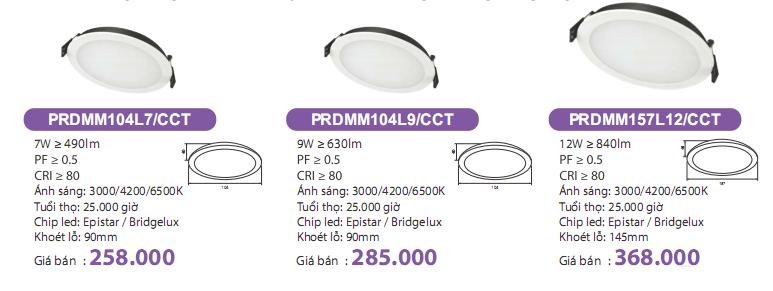 ĐÈN LED ÂM TRẦN PRDMM104L9.CCT