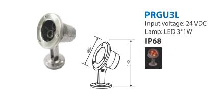 Chi tiết kỹ thuật đèn dưới nước PRGU3L