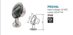 đèn led dưới nước PRGV6L