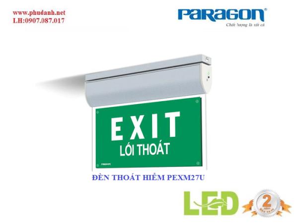 đèn exit thoát hiểm paragon PEXM27U