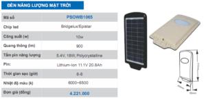 đèn năng lượng mặt trời PSOWB1065